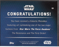 2016 Star Wars The Force Awakens Series Two Medallions #10 Flametrooper | Eastridge Sports Cards