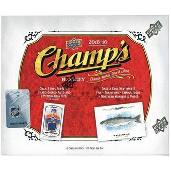2015-16 Upper Deck Champ's Hockey Hobby Box | Eastridge Sports Cards