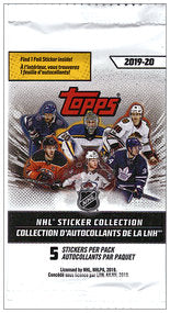 2019-20 Topps NHL Hockey Sticker Pack | Eastridge Sports Cards