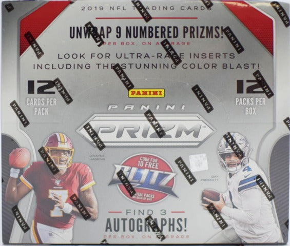 2019 Panini Prizm Football Hobby Box | Eastridge Sports Cards