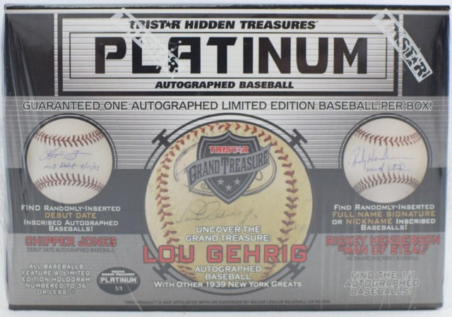 2019 TriStar Platinum Autographed Baseball Series 2 Hobby Box | Eastridge Sports Cards