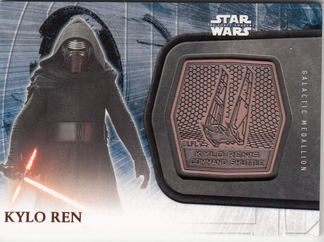2016 Star Wars The Force Awakens Series Two Medallions #1 Kylo Ren | Eastridge Sports Cards