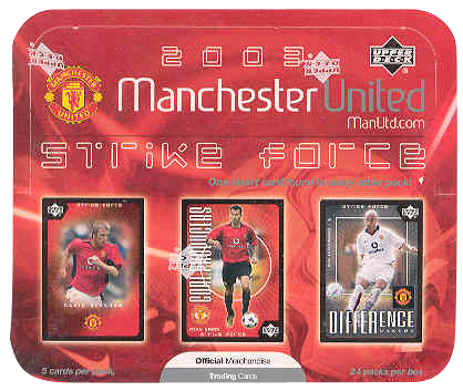 2003 Upper Deck Manchester United Strike Force Retail Pack | Eastridge Sports Cards