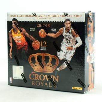 2017-18 Panini Crown Royale Basketball Hobby Box | Eastridge Sports Cards