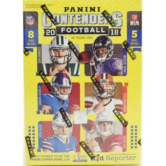 2018 Panini Contenders Football Blaster Box | Eastridge Sports Cards
