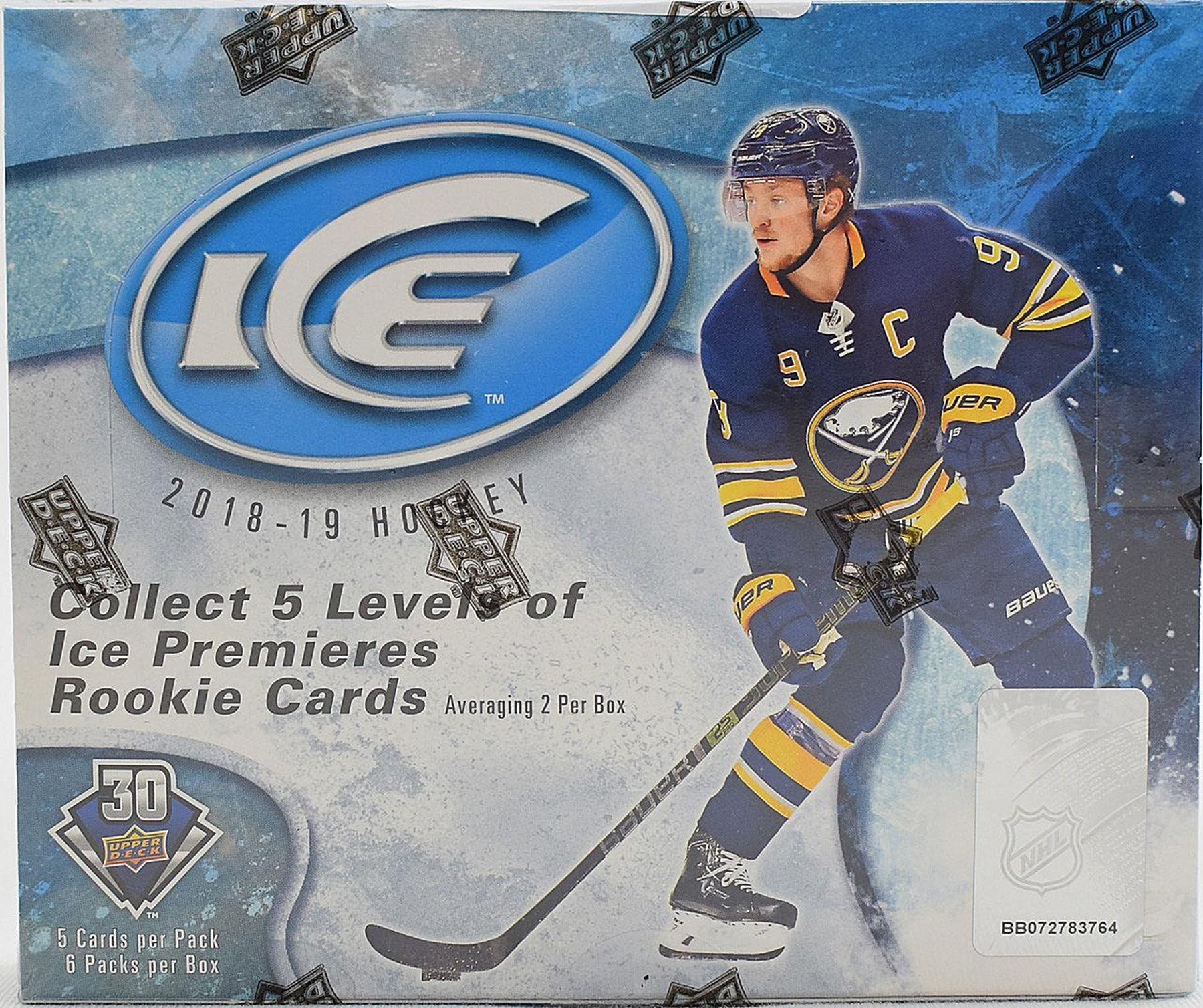 2018-19 Upper Deck Ice Hockey Hobby Box | Eastridge Sports Cards