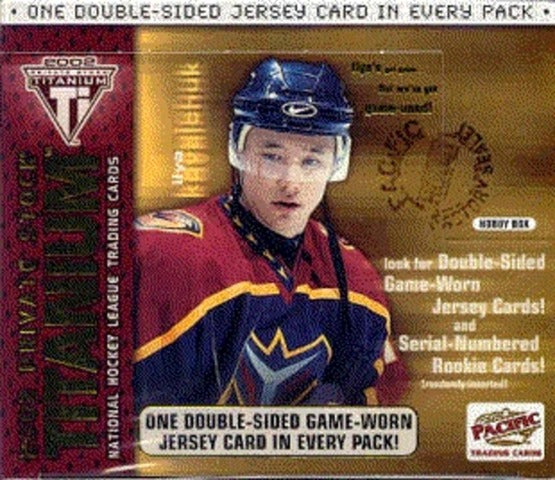 2001-02 Pacific Private Stock Titanium Hockey Hobby Box | Eastridge Sports Cards