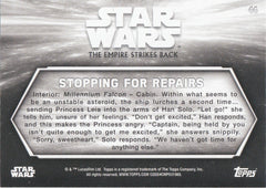 2019 Star Wars Empire Strikes Back Black and White - Green Hue Shift #44 - Stopping for Repairs #/99 | Eastridge Sports Cards
