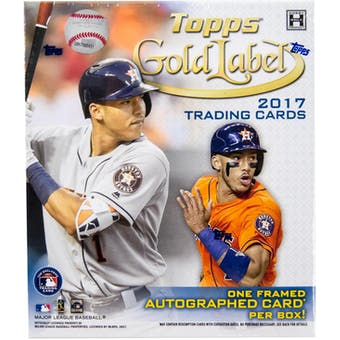 2017 Topps Gold Label Baseball Hobby Box | Eastridge Sports Cards