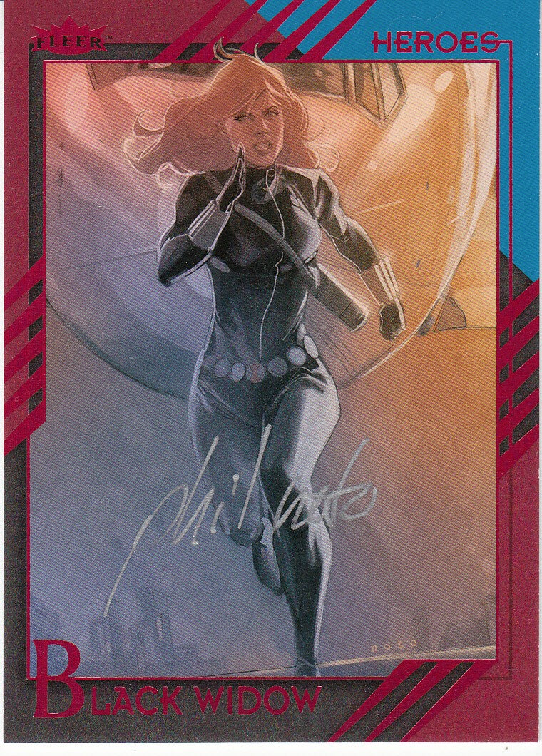 2015 Fleer Retro Marvel Autographs #5 Phil Noto - Black Widow | Eastridge Sports Cards