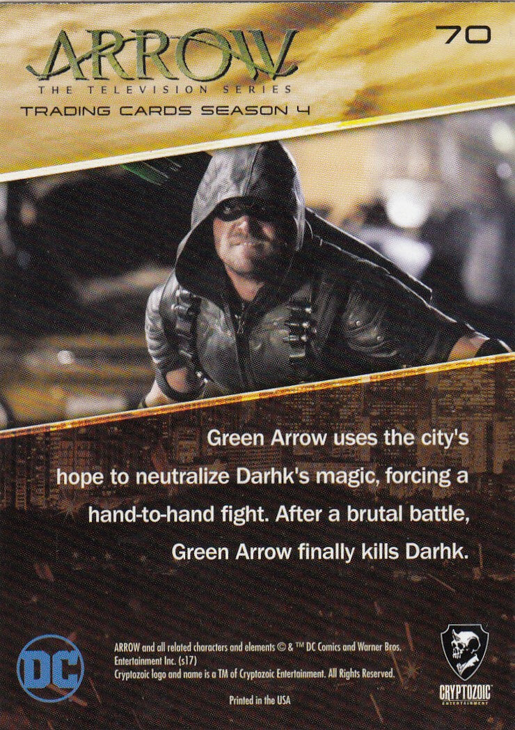 2017 Arrow Season Four Silver Foil #70 - Green Arrow vs. Damien Darhk | Eastridge Sports Cards