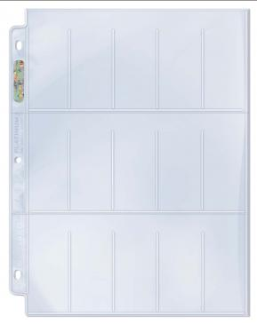Ultra Pro 15-Pocket Platinum Page for Tobacco Cards 100ct | Eastridge Sports Cards