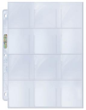 "Ultra Pro 12-Pocket Platinum Page with 2-1/4"" X 2-1/2"" Pockets 100ct 
