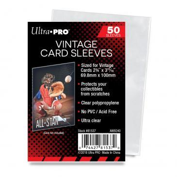 "Ultra Pro 2-3/4"" X 3-15/16"" Vintage Card Sleeves 