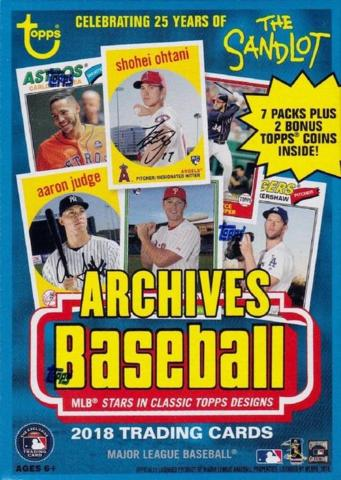 2018 Topps Archives Baseball Value Box | Eastridge Sports Cards