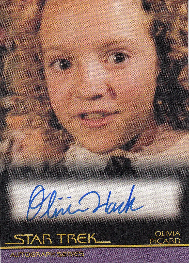 2010 Quotable Star Trek Movies Autographs #A108 - Olivia Hack as Olivia Picard | Eastridge Sports Cards