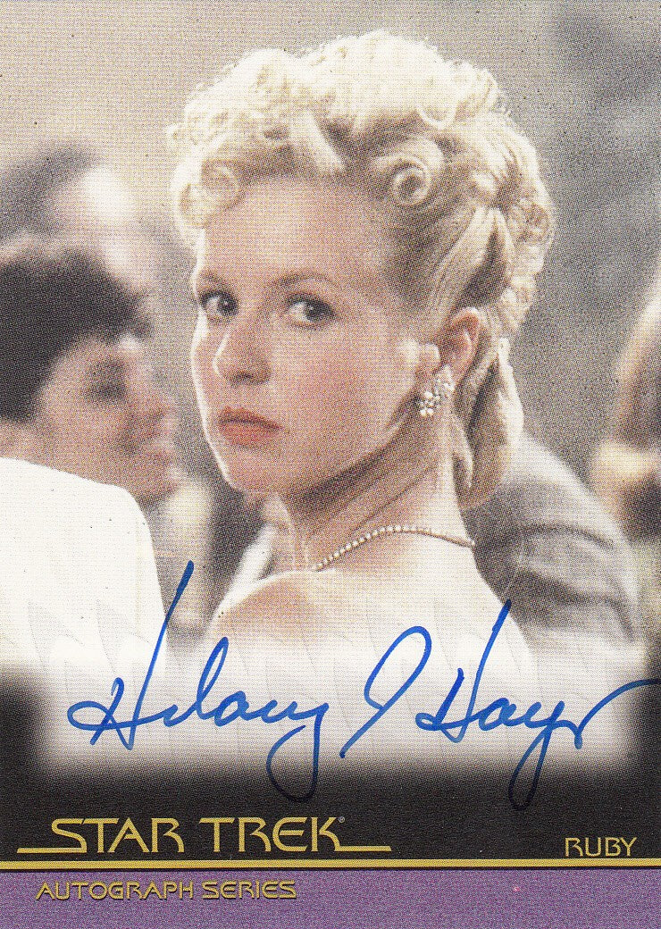 2011 Star Trek Movies Heroes and Villains Autographs #A115 - Hilary Hayes as Ruby | Eastridge Sports Cards