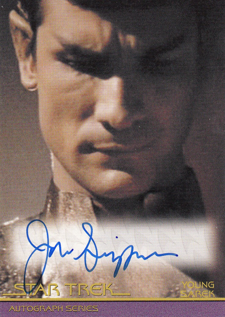 2011 Star Trek Movies Heroes and Villains Autographs #A125 - Jonathan Simpson as Young Sarek | Eastridge Sports Cards