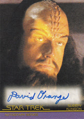 2011 Star Trek Movies Heroes and Villains Autographs #A127 - David Orange as Sleepy Klingon - LIMITED | Eastridge Sports Cards