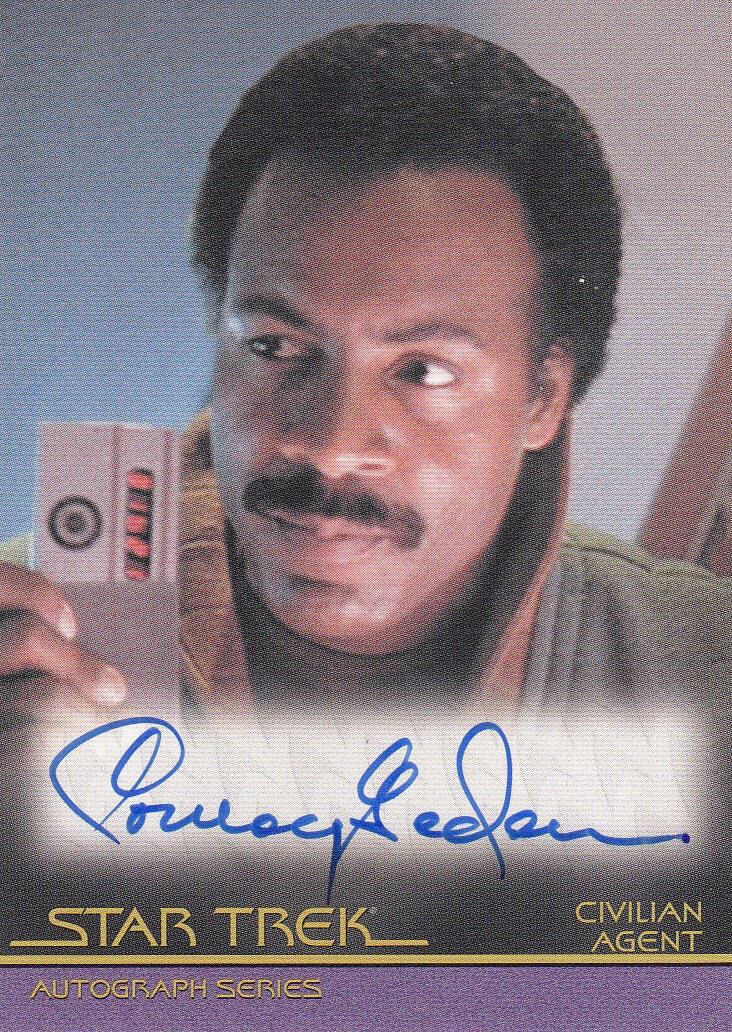 2011 Star Trek Movies Heroes and Villains Autographs #A129 - Conroy Gedeon as Civilian Agent | Eastridge Sports Cards