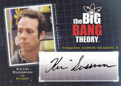 2013 The Big Bang Theory Season Five Autographs #A14 - Kevin Sussman | Eastridge Sports Cards