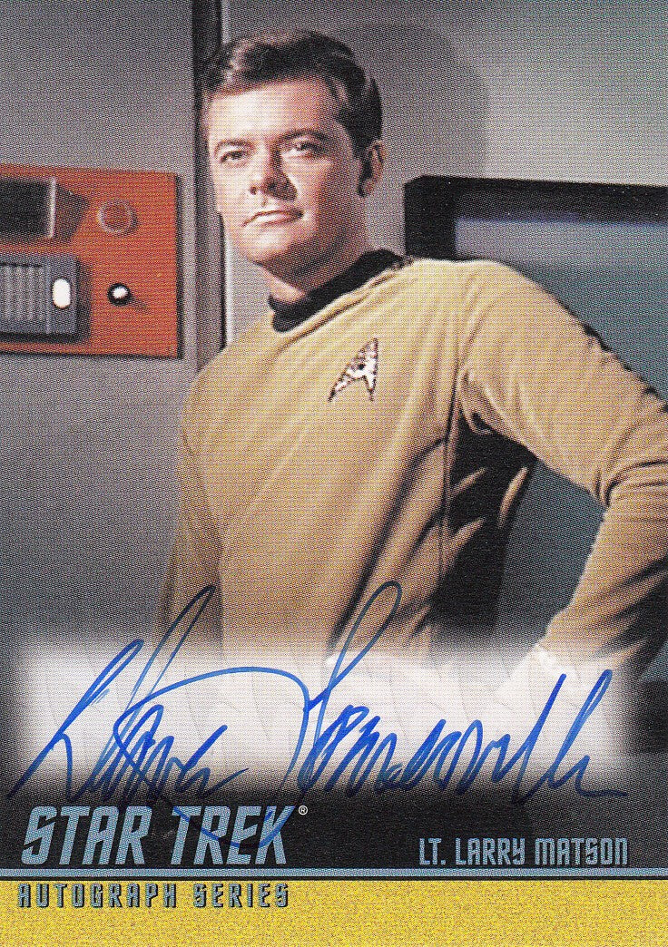 2008 Star Trek The Original Series 40th Anniversary Series 2 Autographs #A169 - Dave Somerville as Lt. Matson | Eastridge Sports Cards
