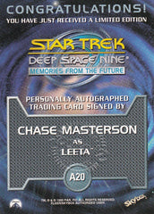 1999 Star Trek Deep Space Nine Memories from the Future Autographs #A20 Chase Masterson as Leeta | Eastridge Sports Cards