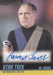 2009 Star Trek The Original Series 40th Anniversary Series 3 Autographs #A211 - Harry Basch as Dr. Brown | Eastridge Sports Cards
