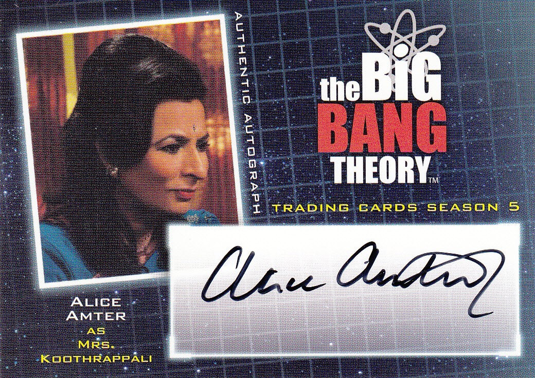 2013 The Big Bang Theory Season Five Autographs #A21 - Alice Amter | Eastridge Sports Cards
