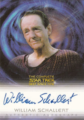 2003 Complete Star Trek Deep Space Nine Autographs #A23 -William Schallert as Varani | Eastridge Sports Cards