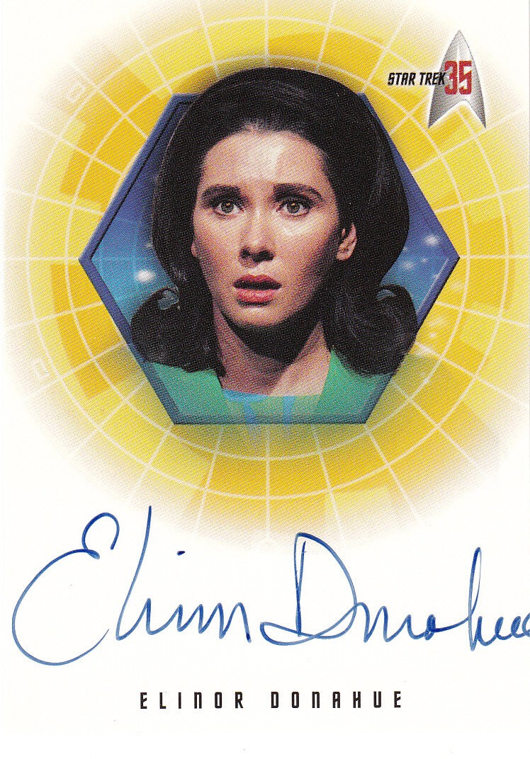 2001 Star Trek 35th Anniversary HoloFEX Autographs #A24 - Elinor Donahue as Commissioner Hedford | Eastridge Sports Cards