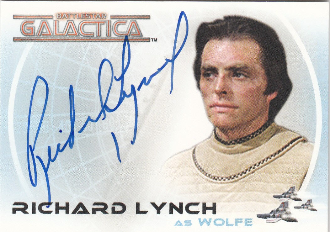 2006 Battlestar Galactica Colonial Warriors Autographs #A24 - Richard Lynch as Wolfe  VERY LIMITED | Eastridge Sports Cards