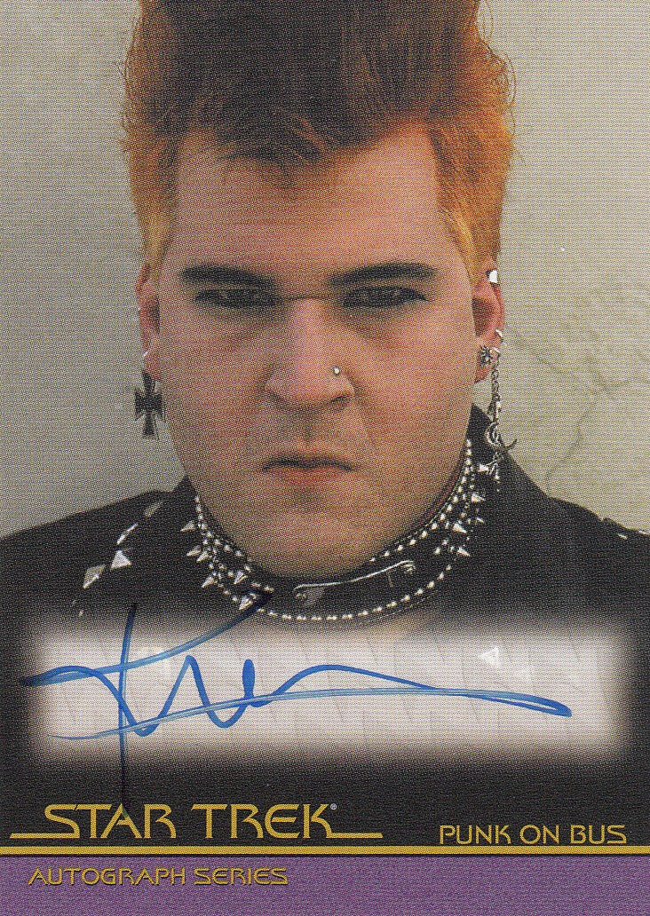 2007 Complete Star Trek Movies Autographs #A27 - Kirk Thatcher as Punk | Eastridge Sports Cards