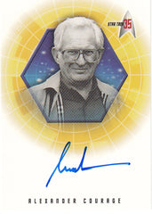 2001 Star Trek 35th Anniversary HoloFEX Autographs #A31 - Alexander Courage - Composer | Eastridge Sports Cards