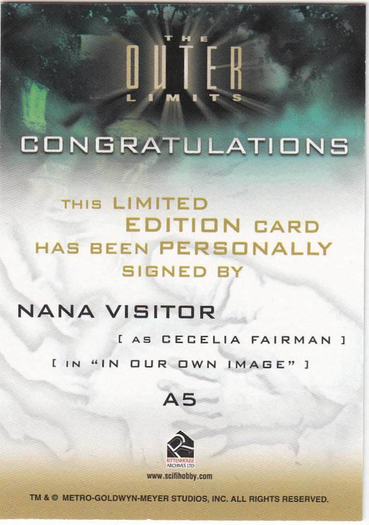 2003 The Outer Limits Sex Cyborgs and Science Fiction Autographs #A5 - Nana Visitor LIMITED | Eastridge Sports Cards