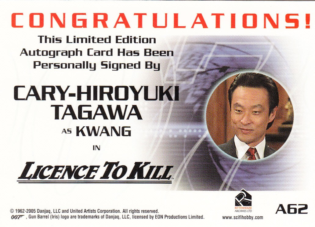 2006 James Bond Dangerous Liaisons Autographs #A62 - Cary-Hiroyuki Tagawa | Eastridge Sports Cards