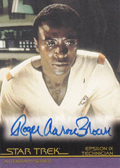 2008 Star Trek Movies In Motion Autographs #A65 - Roger Aaron Brown as Technician | Eastridge Sports Cards