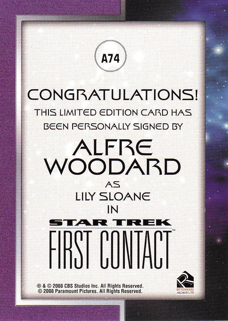 2008 Star Trek Movies In Motion Autographs #A74 - Alfre Woodard as Lily - Case-Topper | Eastridge Sports Cards