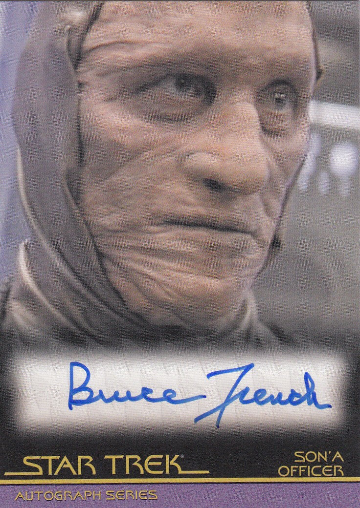 2010 Quotable Star Trek Movies Autographs #A85 - Bruce French as Son'a Officer | Eastridge Sports Cards