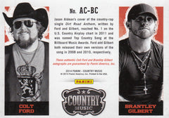 2015 Country Music Combo Signatures Silver #AC-BC- Brantley Gilbert and Colt Ford #/25 | Eastridge Sports Cards