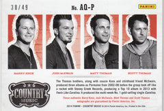 2015 Country Music Quad Signatures #AQ-P Barry Knox/Josh McSwain/Matt Thomas/Scott Thomas #/49 | Eastridge Sports Cards