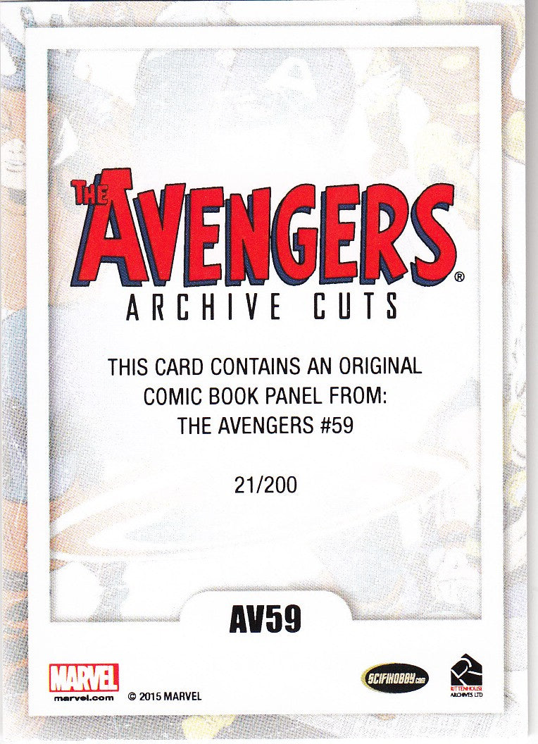 2015 Avengers Silver Age Cut Archives The Avengers #AV59 | Eastridge Sports Cards