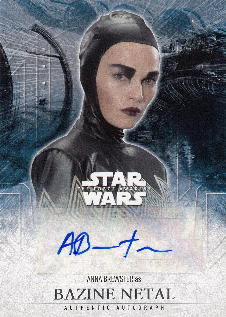 2016 Star Wars The Force Awakens Series Two Autographs - Anna Brewster as Bazine Netal | Eastridge Sports Cards