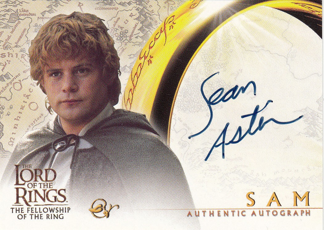 2001 Lord of the Rings Fellowship of the Ring Autographs - Sean Astin | Eastridge Sports Cards