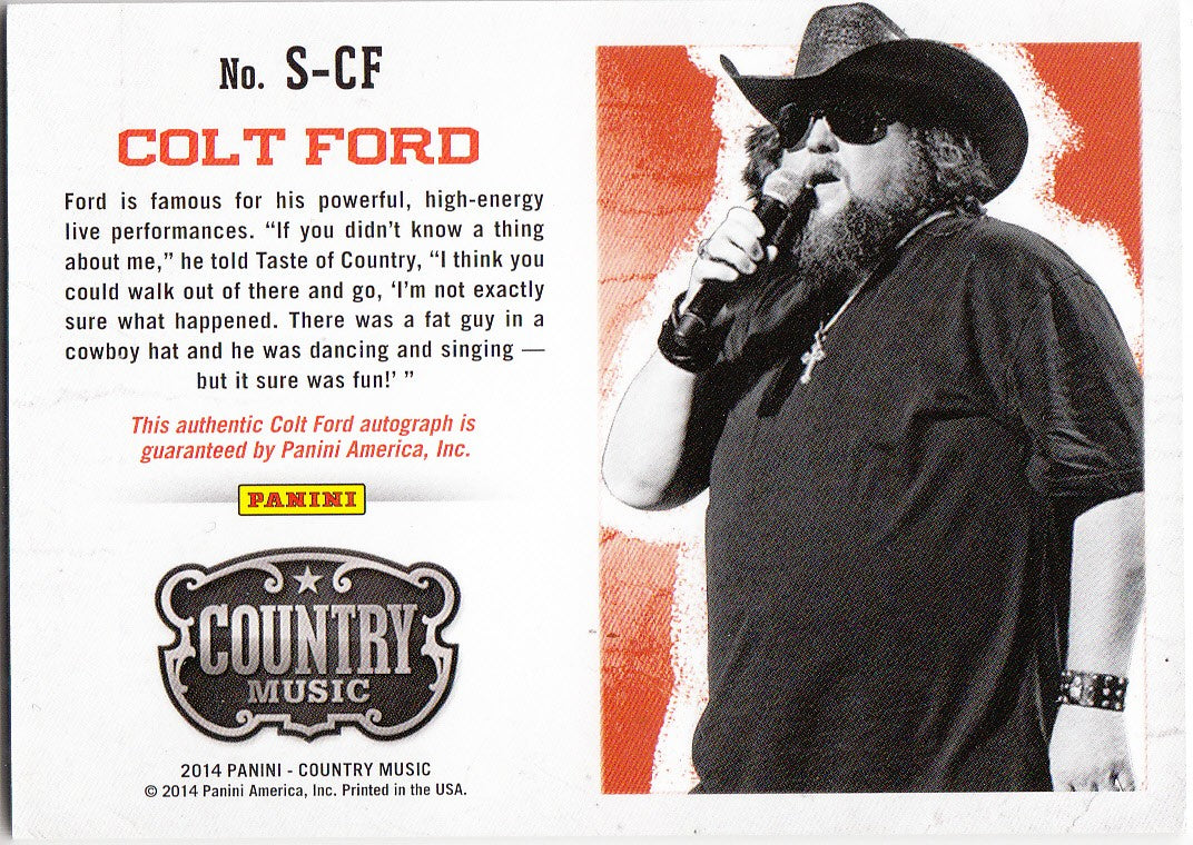 2015 Country Music Signatures Blue #S-CF -  Colt Ford #/199 | Eastridge Sports Cards