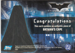 2005 Batman Begins Movie Memorabilia #1 - Batman's Cape | Eastridge Sports Cards