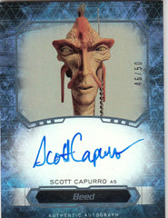 2016 Star Wars Masterwork Autographs Foil - Scott Capurro as Beed #/50 | Eastridge Sports Cards