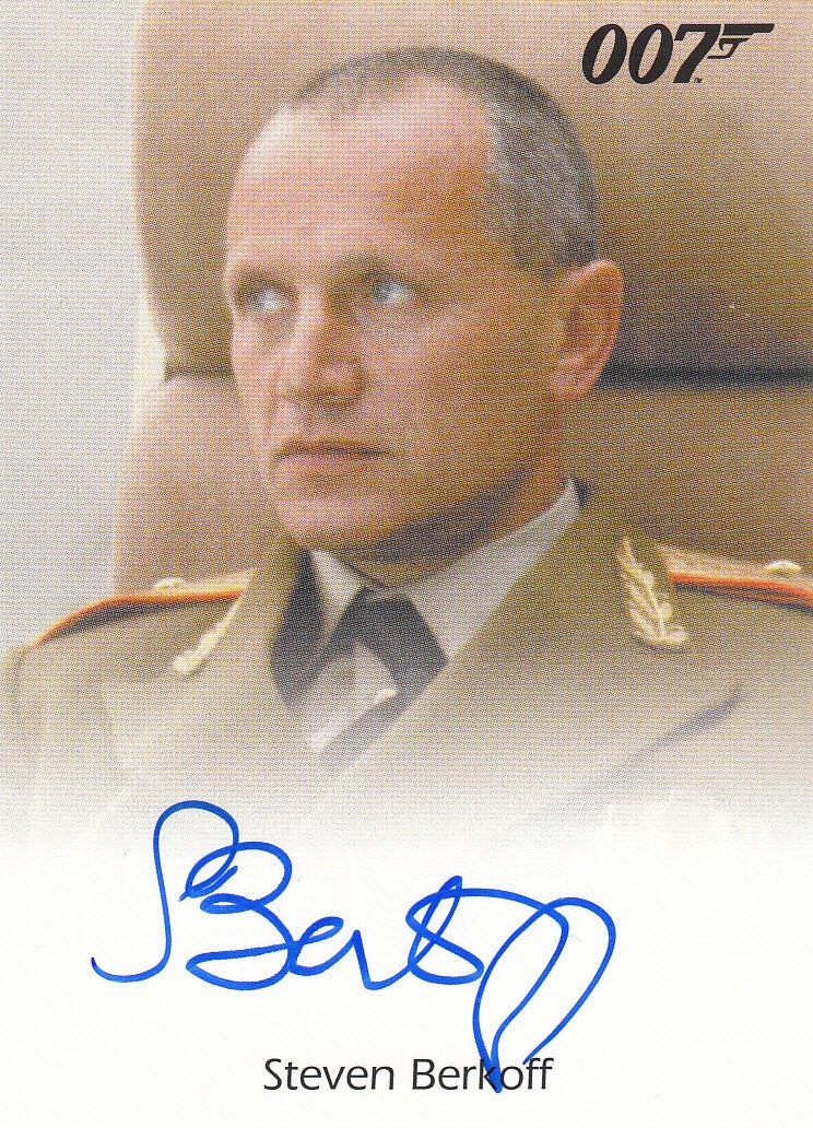 2013 James Bond Autographs and Relics Autographs - Steven Berkoff LIMITED | Eastridge Sports Cards