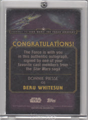 2015 Star Wars Journey to The Force Awakens Autographs - Bonnie Piesse - SILVER #/50 | Eastridge Sports Cards