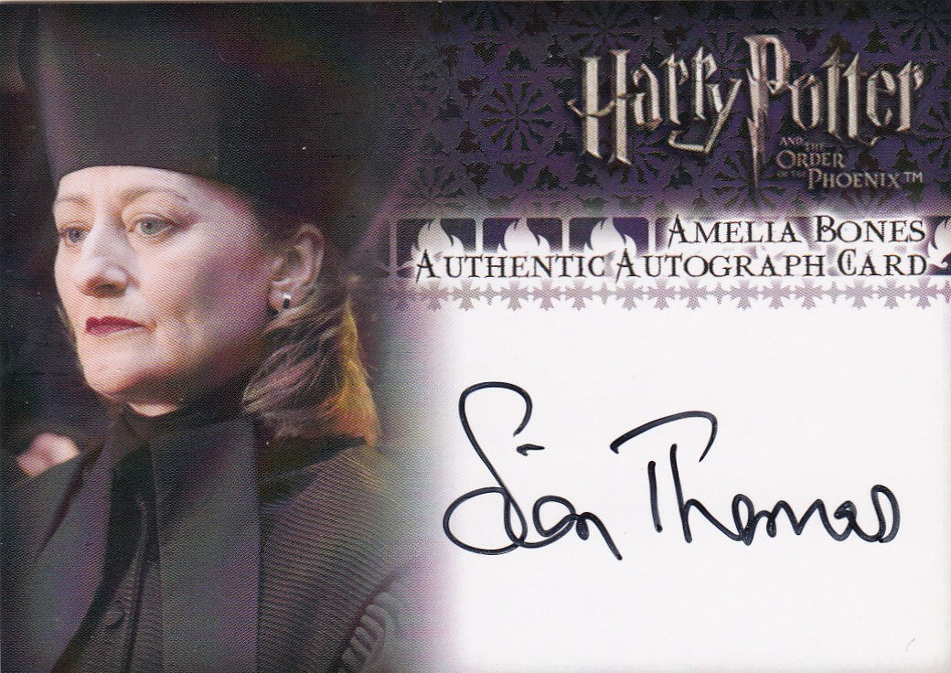 2007 Harry Potter and the Order of the Phoenix Update Autographs - Sian Thomas as Amelia Bones | Eastridge Sports Cards